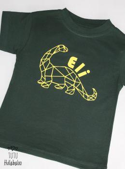 Geometric Dinosaur Tshirt