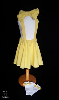 Pinafore Dress Yellow