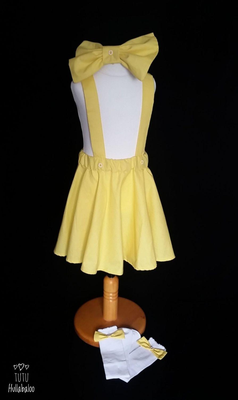 Pinafore Dress Yellow