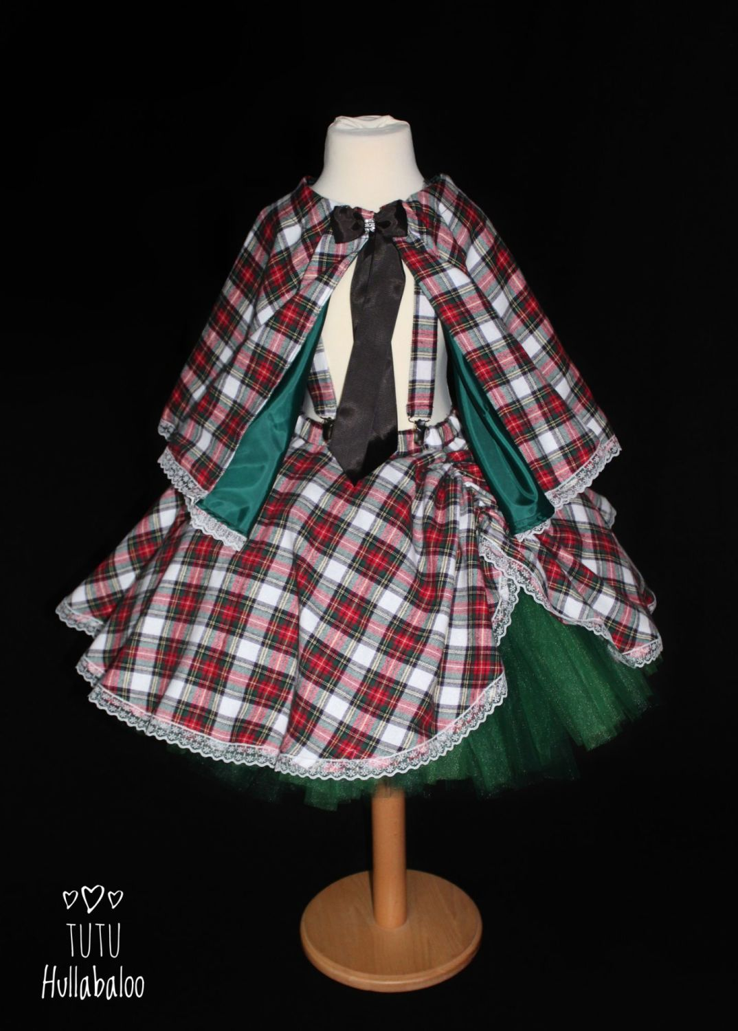 Tartan Pinafore Dress White