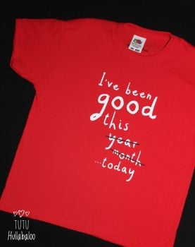 I've Been Good Tshirt  - red/white