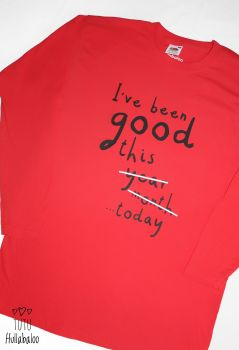 I've Been Good Tshirt  - red/black