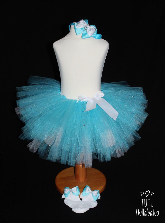 Kids' Plain Tutu Turquoise