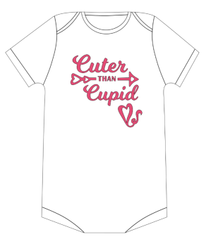 Cuter than Cupid Tshirt/Vest