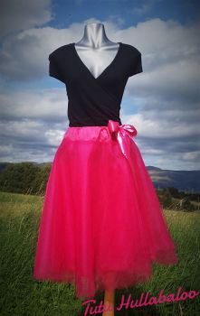 Full Circle Tulle Skirt - Fuschia - Adult
