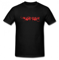Tshirt Black/Metallic Red - Blind Daze