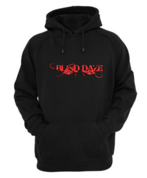Hoodie Black/Metallic Red - Blind Daze