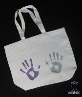 Maxi Tote Bag Custom - Hands