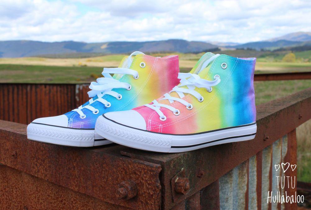 Rainbow Opposite Hightops