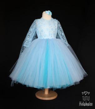 Full Length Dress Ice Blue