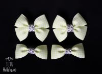 School Checked Yellow - Bunches Bows - 4 bows