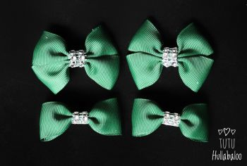 Plain Forest Green - Bunches Bows - 4 bows