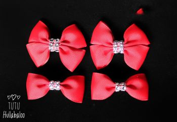 Plain Red - Bunches Bows - 4 bows
