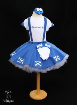 Pinafore Dress Blue with Saltires