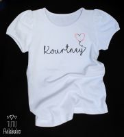 Personalised Heart Balloon Vest/Tshirt