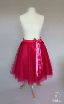 Full Circle Tulle Skirt - Fuschia - Size 8-10 adult - Ready to post