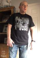 Fragile like a Bomb Tshirt - Black/Silver