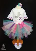 Birthday Tutu + Top Set - Unicorn