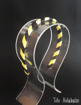 Plain Black/Yellow Stripes