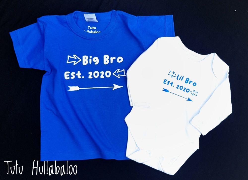 Big Bro/Lil Bro Vest and Tshirt Set