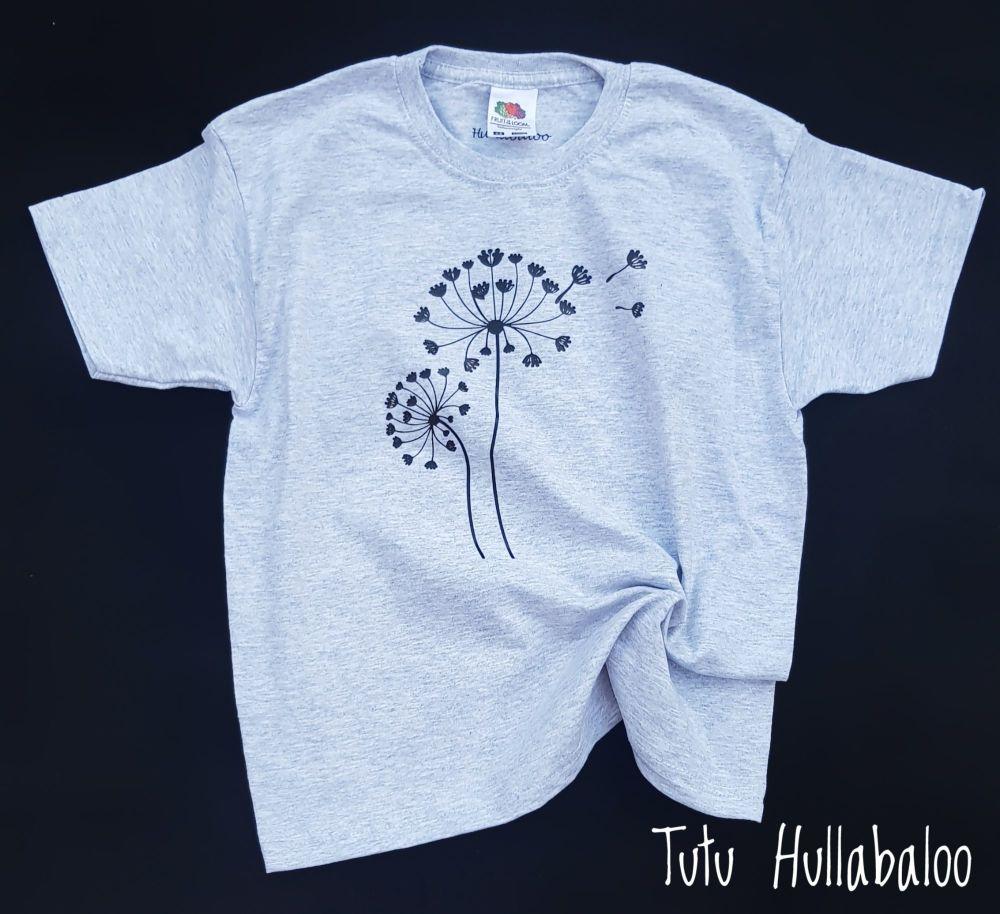 Dandelion Tshirt - paint your own colours