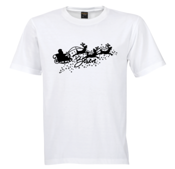 Believe Tree Tshirt - Black/Silver