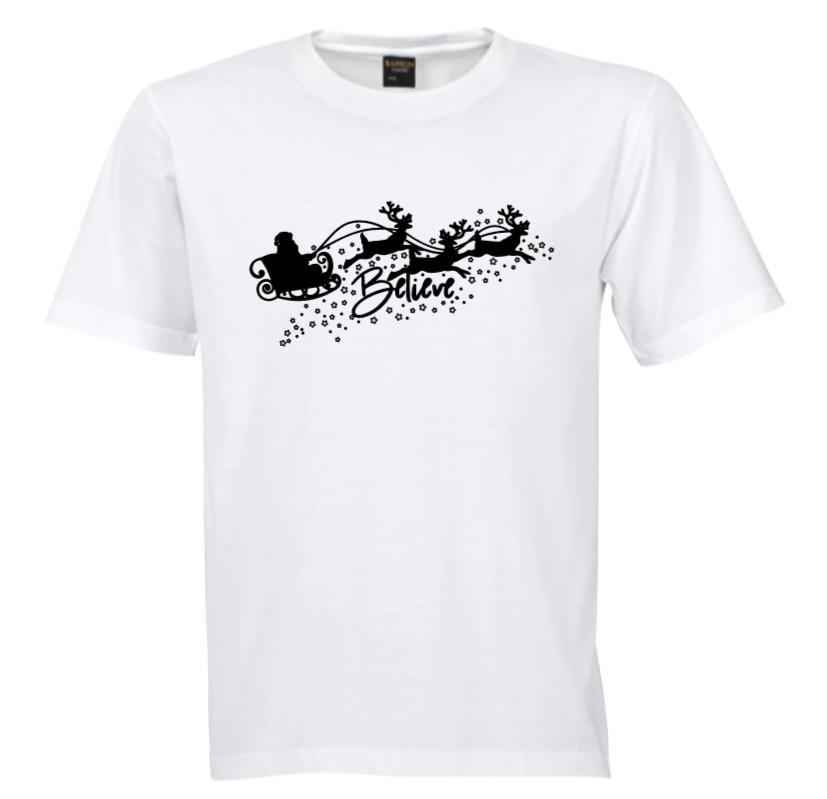 Believe Tree Tshirt - Black/Silver