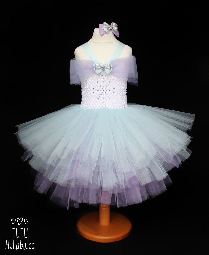 Ice Princess Dress Blue/White/Lilac - Age 2-3 years - Ready to post
