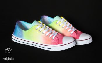 Rainbow Lowtops - Adult Size 12 - Ready to post