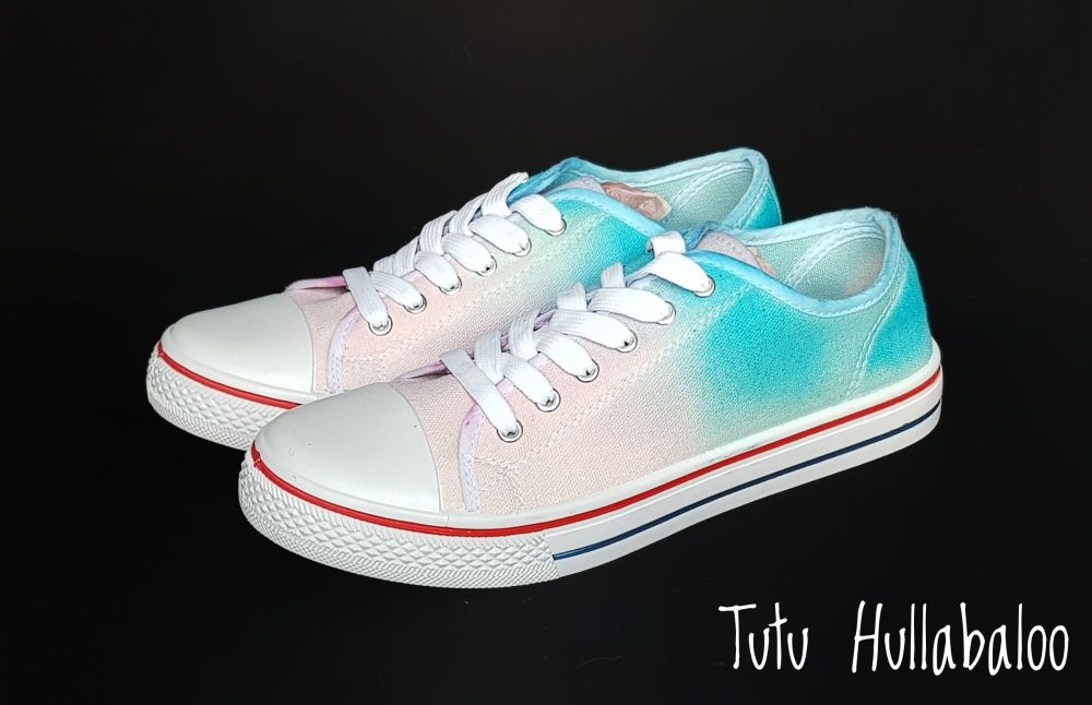Pink, Blue Lowtops