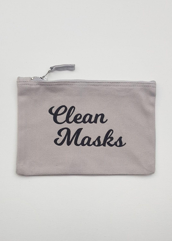 Canvas Pouch - Clean Masks