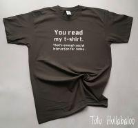Enough Socialising Tshirt