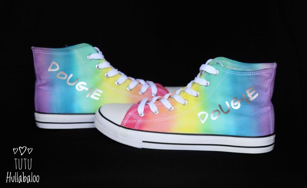 Custom Rainbow Hightops Sale
