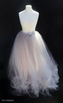 Long Tulle Skirt - Silver - Adult