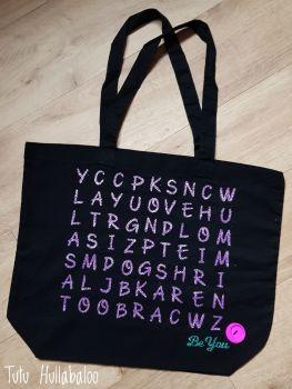 Maxi Tote Bag Custom Word Search