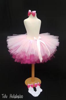 Plain Tutu Pink Ombre - Child