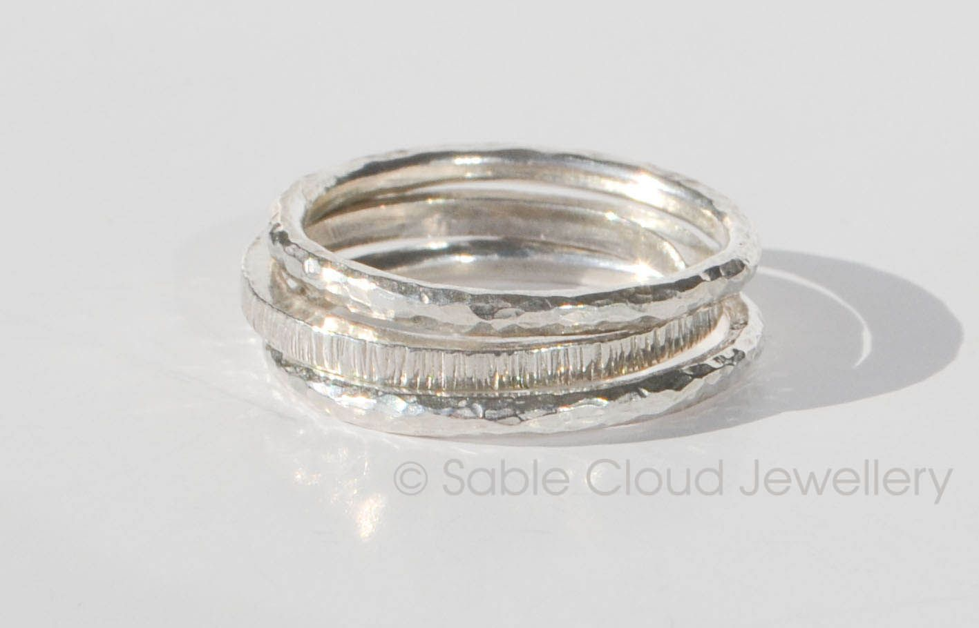 Stacker ring set by Sable CLoud Jewellery