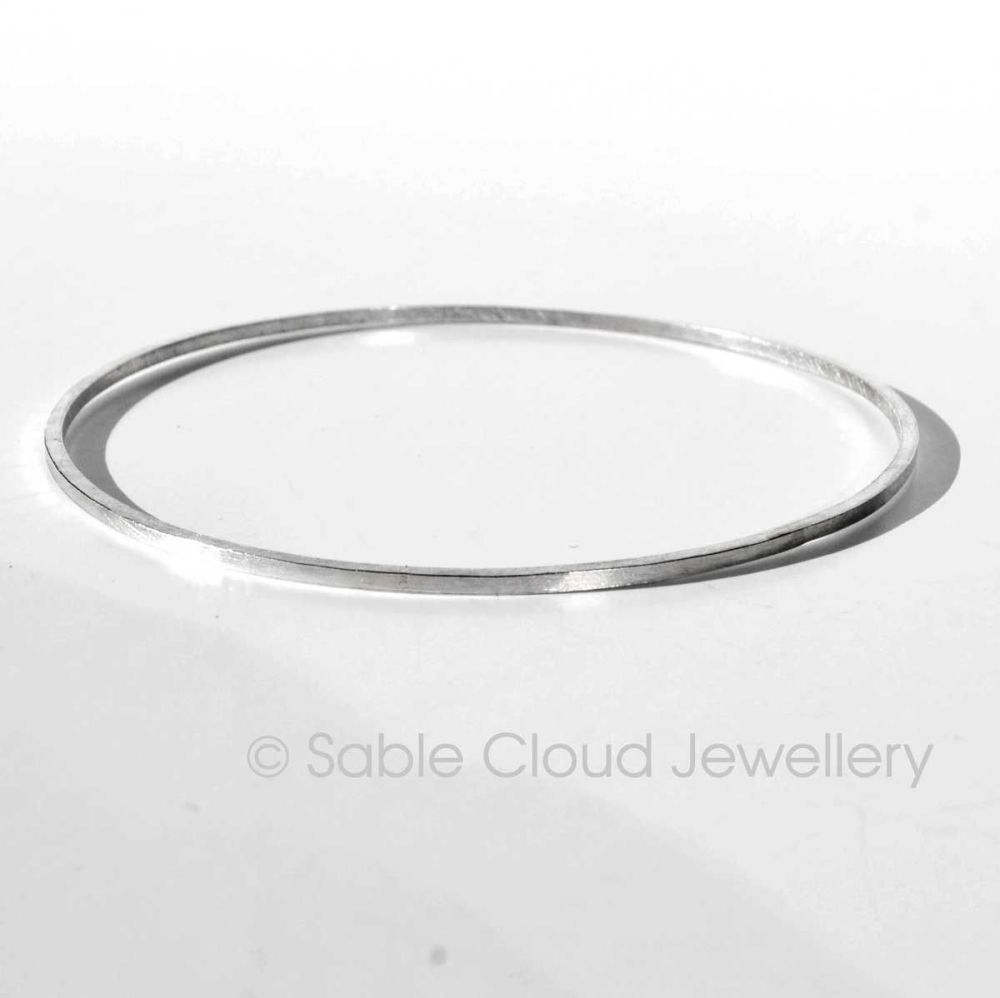 Stacker Bangle geometric modern square 2mm wire