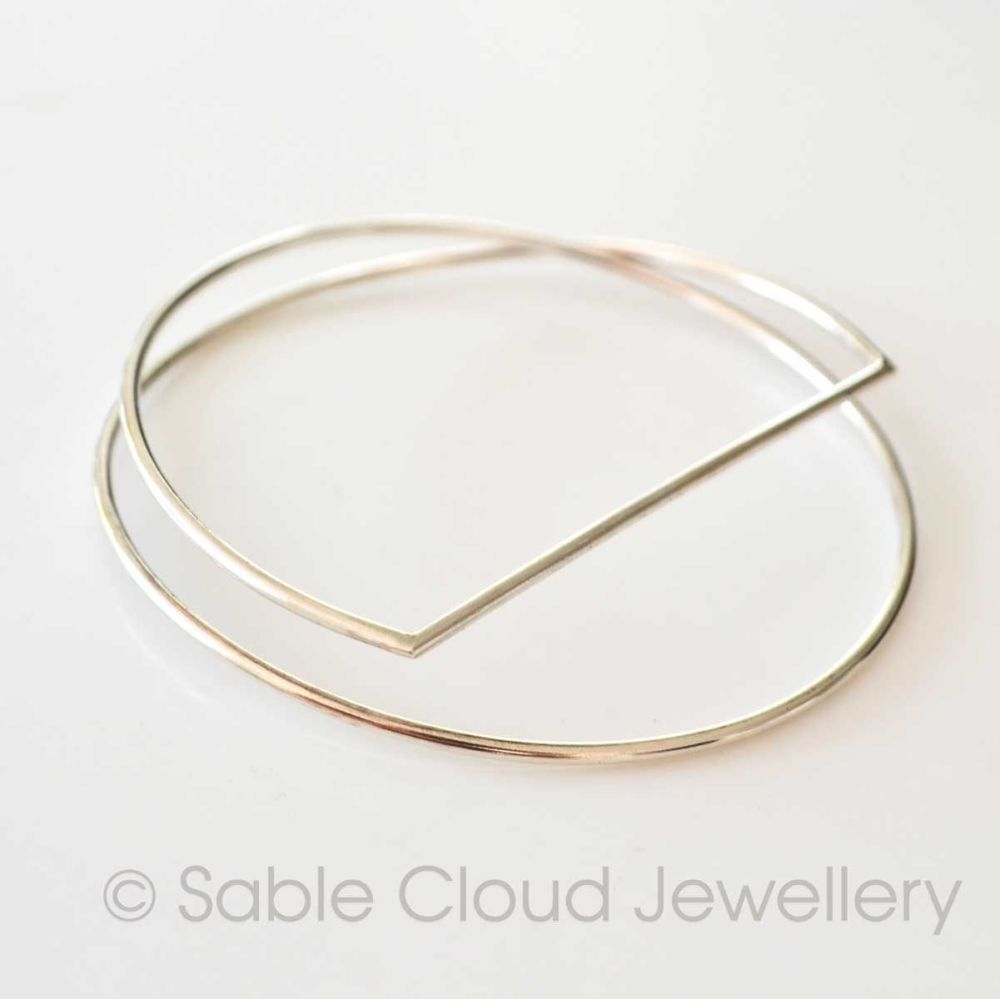 Geometric Statement Bangle