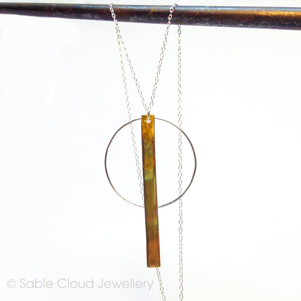 Silver and Brass Necklace
