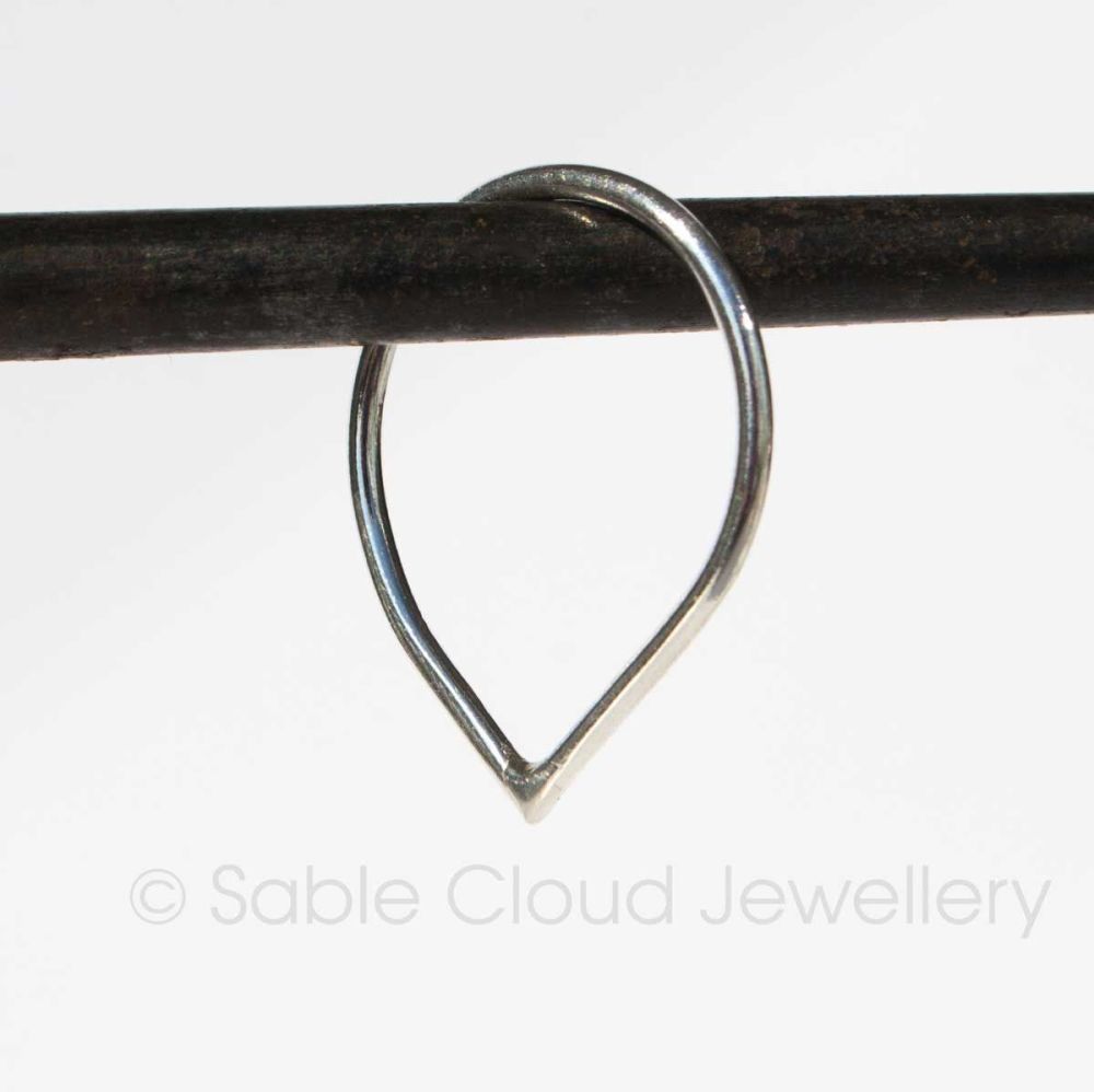 Sterling Silver Tear Drop Ring