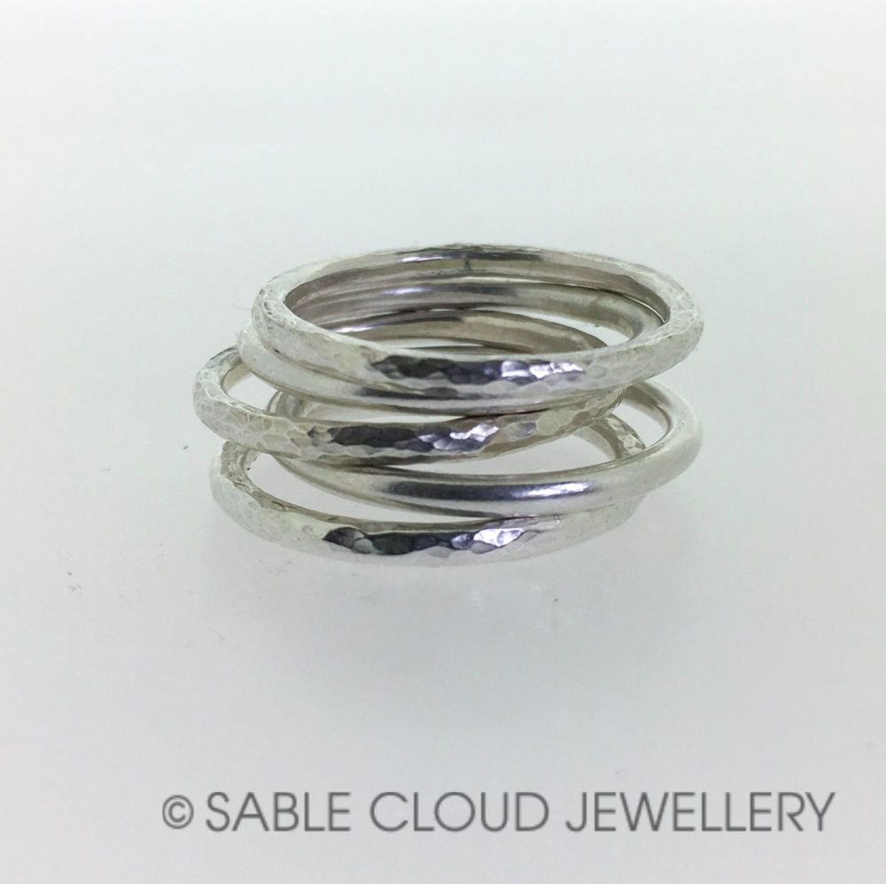 Silver Stacking Ring Set