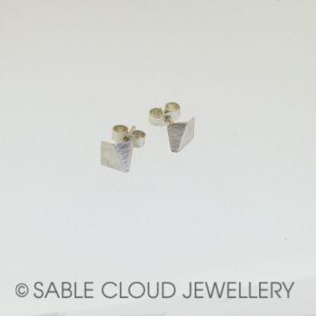 Stud Earrings Geo Square