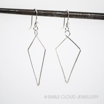 Kite dangle earrings