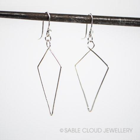 Kite dangle earrings