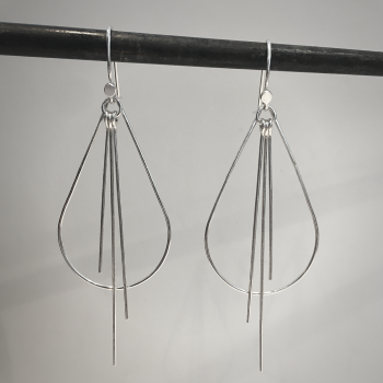 Metal Tassel - Teardrop Earrings