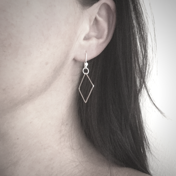 Dinky Dangle Earrings - Diamond