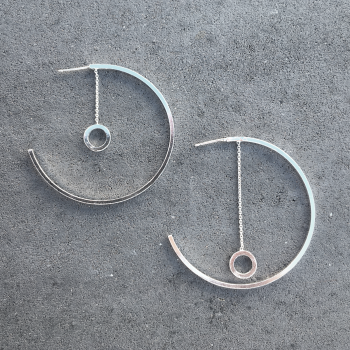 Hoop Earrings - Circle Metronome