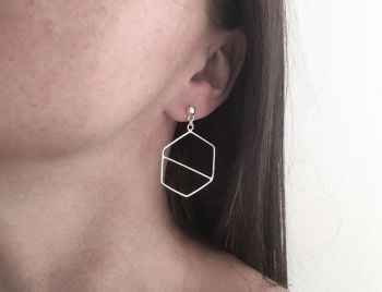 Dangle Earrings - Hexagon Slice