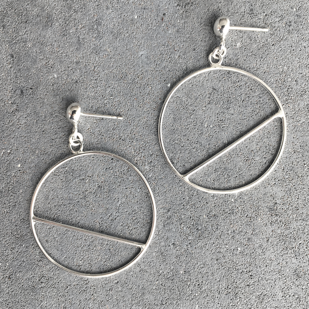 Dangle Earrings - Circle Slice